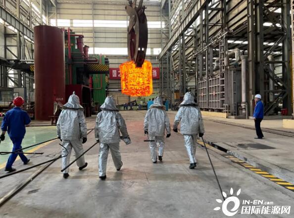 百万千瓦核电不锈钢泵壳在宏润核装挤压成型