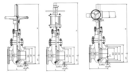Z43F平板闸阀结构图