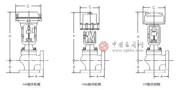 高压单座角型调节阀结构图
