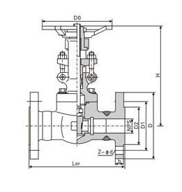 鍛鋼法蘭閘閥結構圖