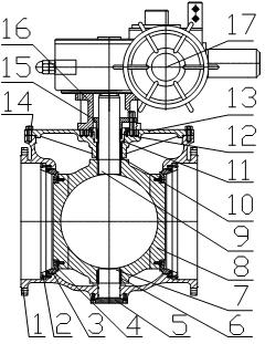 上装式硬(软)密封偏心半球阀主要零件材料