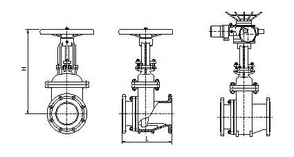 耐磨陶瓷排渣闸阀结构图