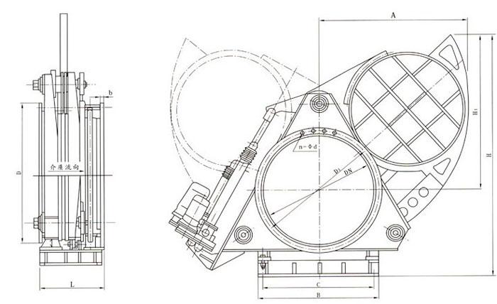 电动扇形盲板阀结构特点