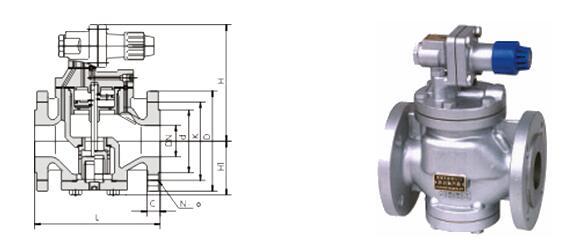 高灵敏度蒸汽减压阀结构图