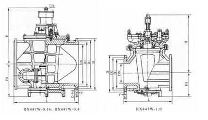 正齿轮传动油密封式旋塞阀结构示意图