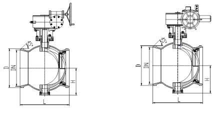 对焊偏心半球阀的结构图