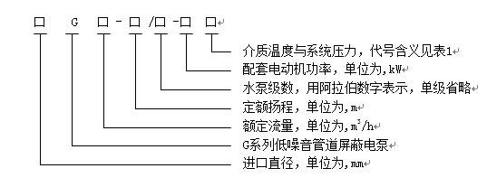 屏蔽电泵的型号表示方法