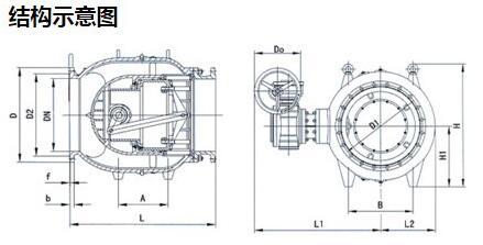轴流式流量调节阀结构图
