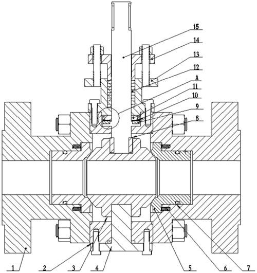 图为本发明一种实施例提供的磁力止推轴承阀门的结构示意图