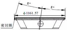 三偏心金属硬密封蝶阀蝶板组合件外形及密封圈
