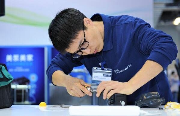 """中国首届格兰富国际""""安装工""""大赛决赛如火如荼举行"""