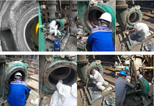 关于脱硫泵冲刷磨损修补的新工艺