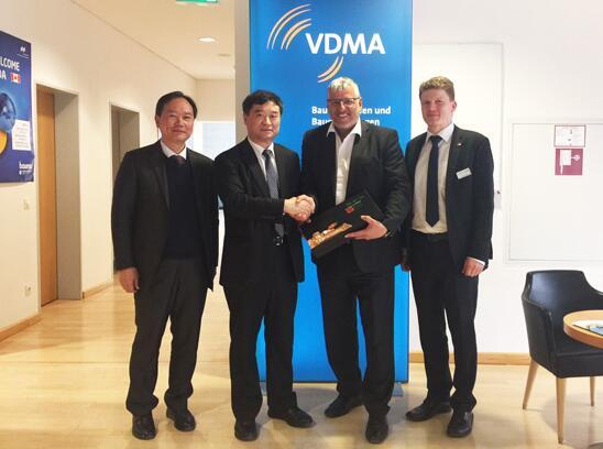 中国工程机械工业协会领导会见德国VDMA工程机械总经理施密特