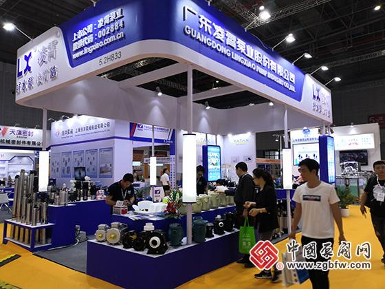 广东凌霄泵业股份有限公司参加2019第八届上海国际泵管阀展览会