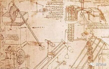 ▲▲达芬奇机械手稿图