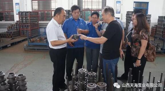 山西天海泵业:平陆新环橡塑制品有限公司任董事长一行来考察