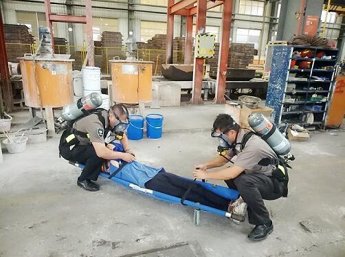浙江英洛华装备制造有限公司开展火灾救援应急演练