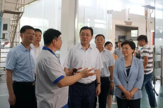 江苏省委常委、统战部部长杨岳一行 莅临振华泵业进行考察调研指导工作