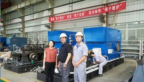 印度AROMA公司应邀到重泵公司参观考察