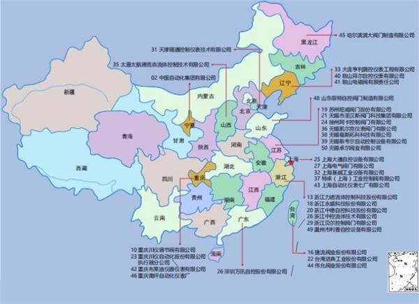 中国控制阀竞争格局分析:企业多集中在江苏浙江上海地区(图)