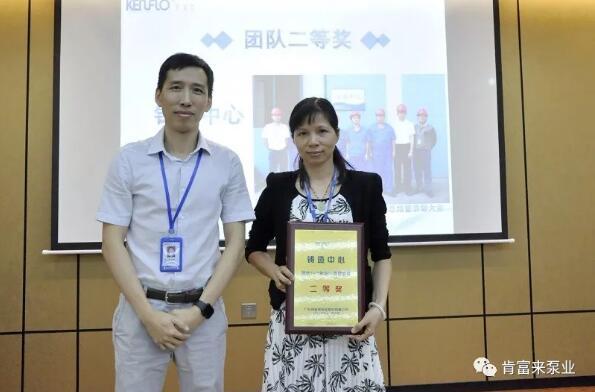 黎宇明副书记为团体二等奖代表颁奖