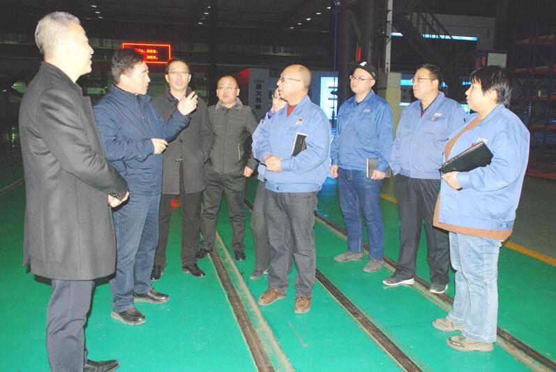 甘肃省科技厅考察组来星火机床公司考察