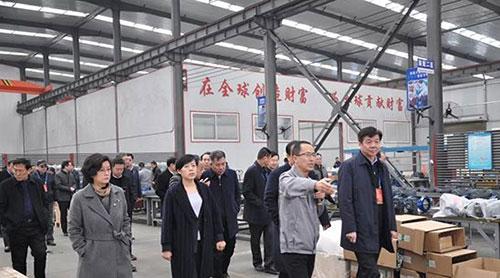 临汾市省十三届人大代表及各级领导莅临山西好利阀机械制造有限公司视察