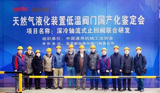 自贡新地佩尔LNG用深冷轴流式止回阀顺利通过中通协国产化鉴定