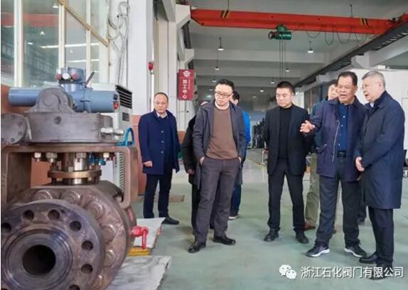 温州市副市长汪驰一行莅临浙江石化阀门有限公司调研指导