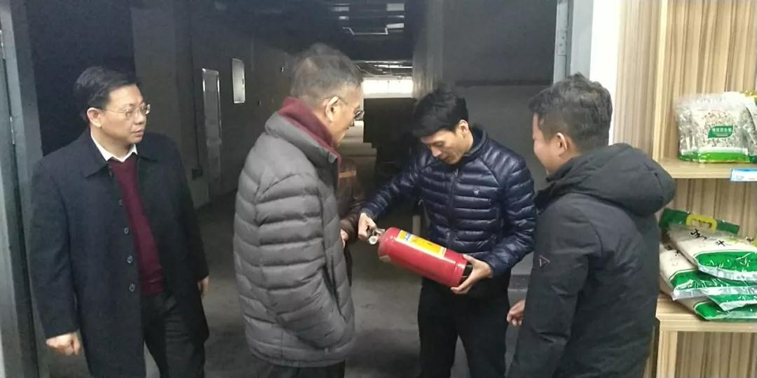 工投集团副总经理励中柱一行到宁波模具产业园区进行节前安全检查