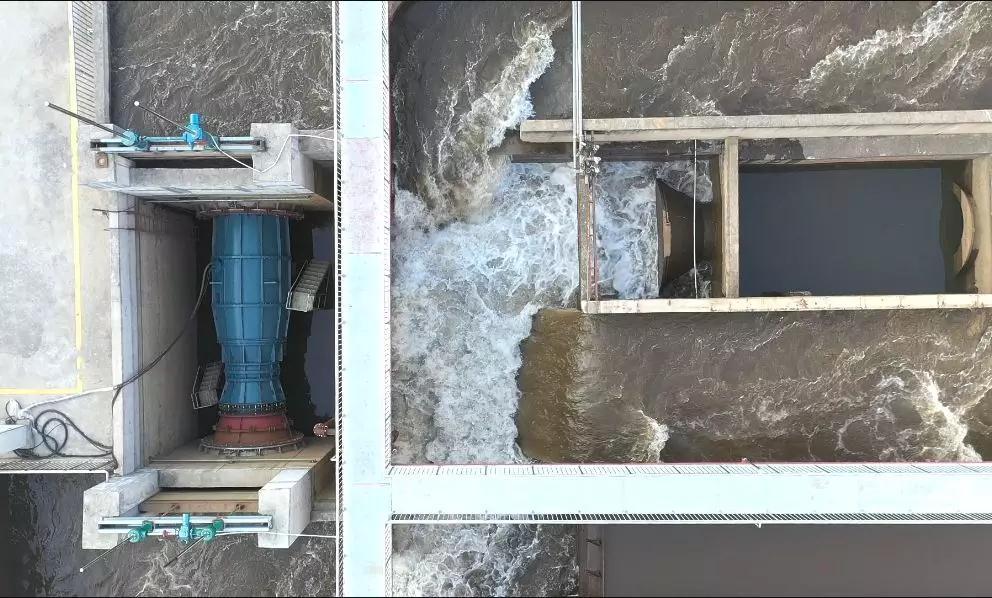 潜水贯流泵真机试验