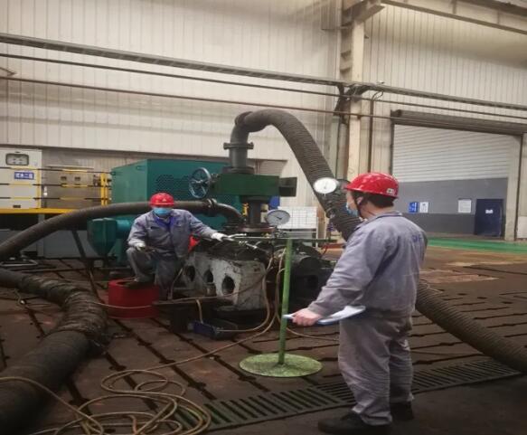 重庆水泵公司试验站正式启动试验台维护工作