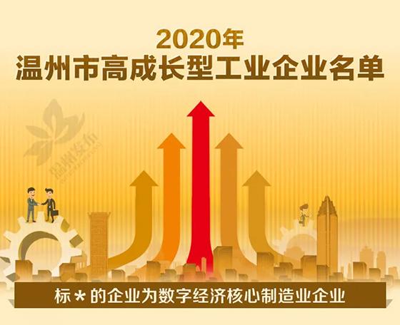 温州公布2020年领军型、高成长型工业企业名单,这些泵阀企业上榜