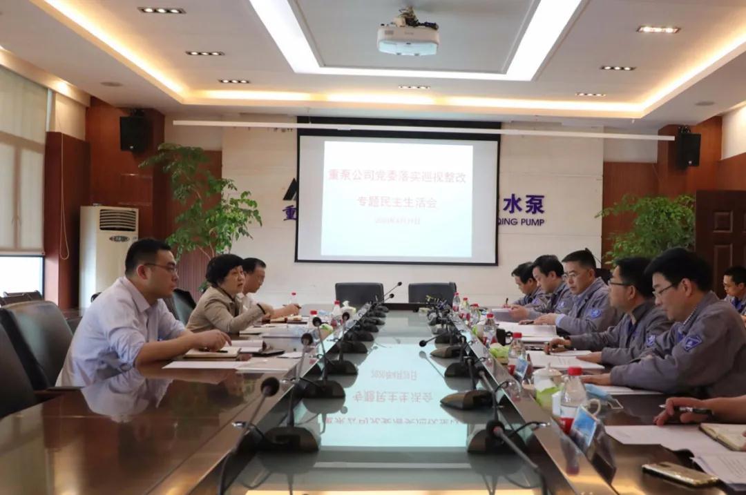 重庆水泵凤凰注册凤凰注册召开巡视整改专题民主生活会