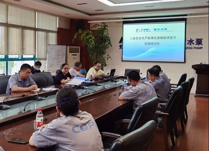 """重庆水泵公司启动""""二级安全生产标准化资格延续复评""""工作"""