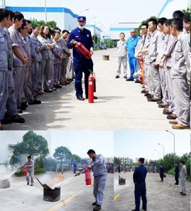 上海沪东造船阀门有限公司举行消防演练