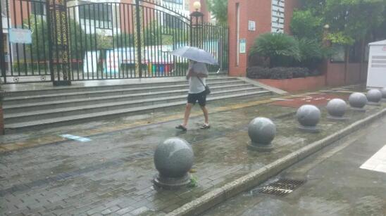黄浦路泵站周围未出现积水