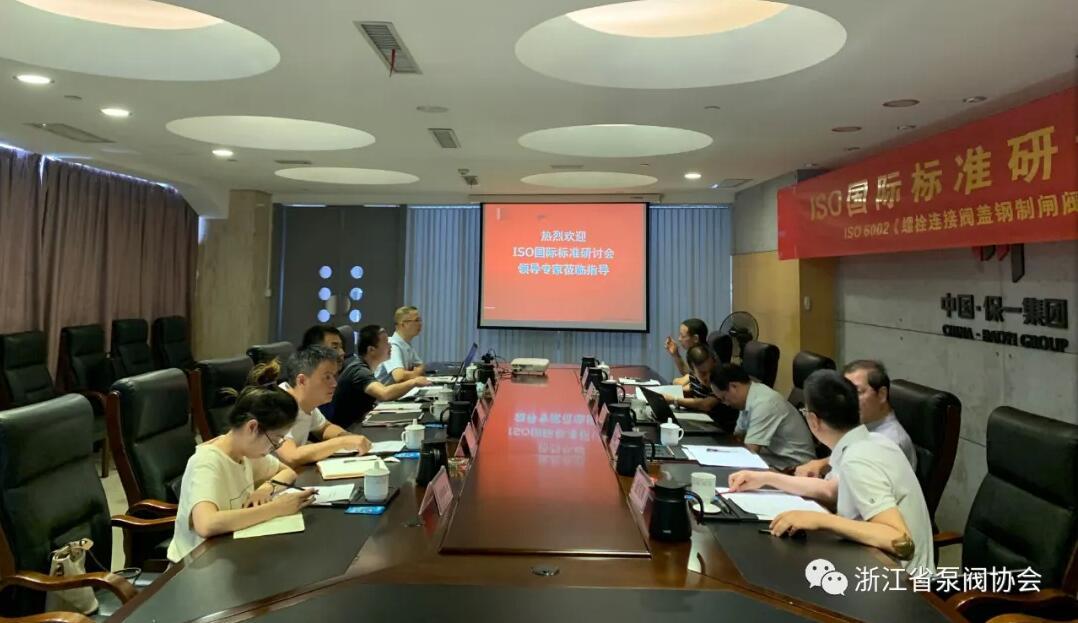 ISO 6002《工业阀门 螺栓连接阀盖钢制闸阀》国际标准研讨会在浙江永嘉召开