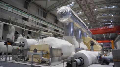 甘肃电投常乐电厂百万千瓦火电项目1号机组汽轮机冲转一次成功