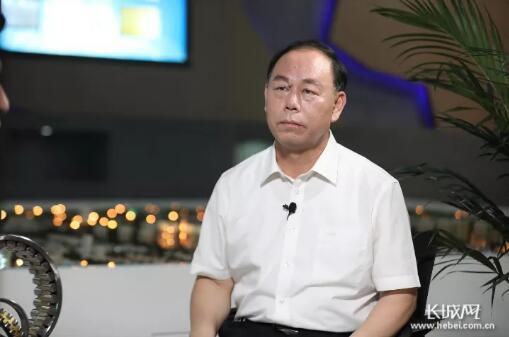 临西县委书记王海军接受长城网记者专访。