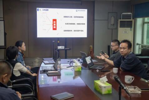 2020年中国水利水电科学研究院流域水循环模拟与调控国家重点实验室雷晓辉教授(右一)在南阀交流最新技术趋势