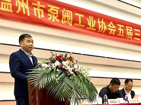 温州市经信局党组书记贾焕翔发表讲话