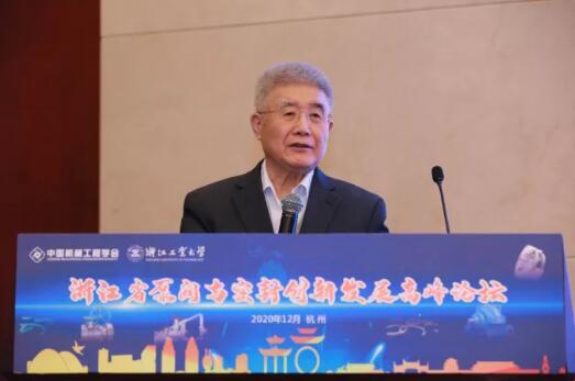 中国工程院院士、清华大学教授王玉明作大会主旨报告