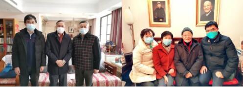 上海市船舶与海洋工程学会领导上门慰问院士专家和老领导