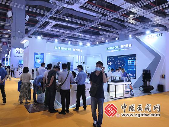 新界泵业参加上海国际泵管阀展览会