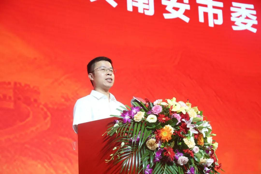 南安市委常委、統戰部部長蔡清安致辭