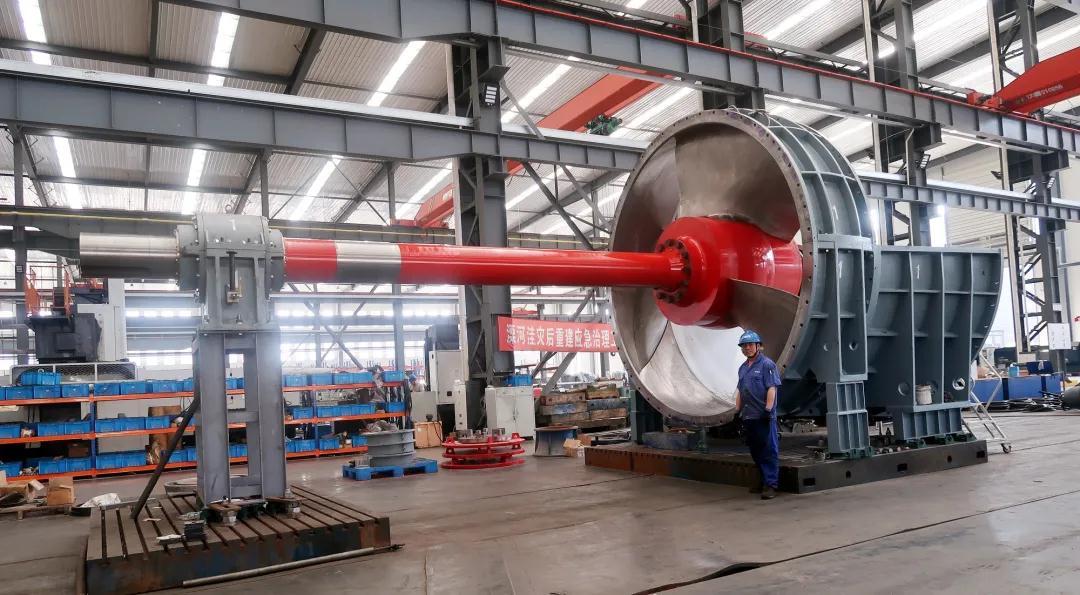 ▲ 葉輪直徑3.55米臥式貫流泵