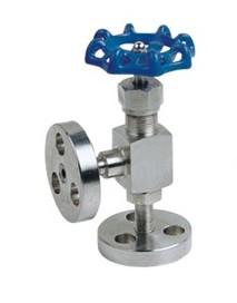 法兰角式针型阀-不锈钢法兰角式针型阀J41W-160P
