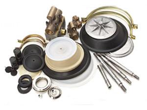 供应气动隔�音在墨麒麟等人膜泵◆配件、膜片、气阀-原●厂进口配件