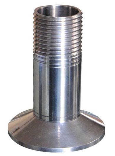 厂家直销卫生级不锈钢快装外丝接头 单头丝短管接价格